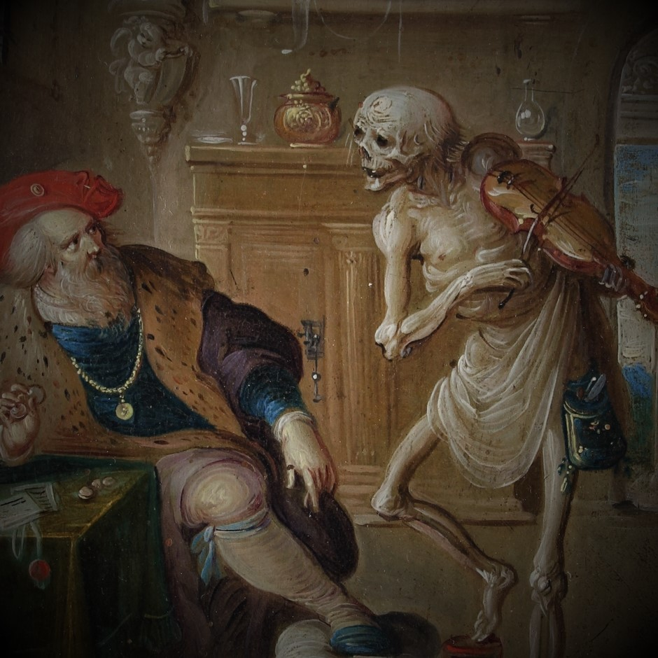 """""""La Mort Joue du Violon"""" ; Frans II Francken (Détail)"""