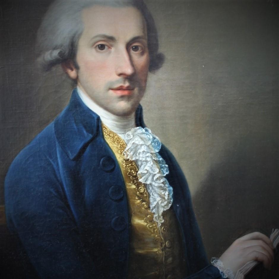 Portrait d'homme tenant un livre