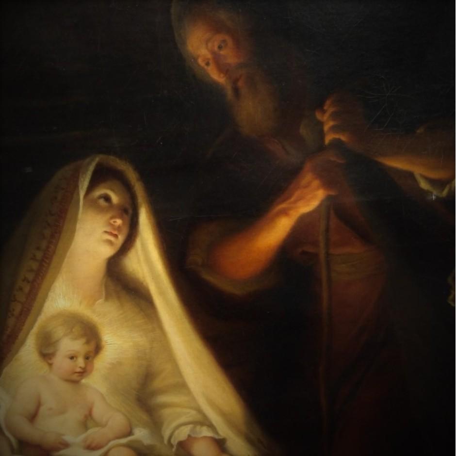 """Jean Lecomte du Nouÿ (1842-1923)"""" La Sainte Famille"""" Détail"""