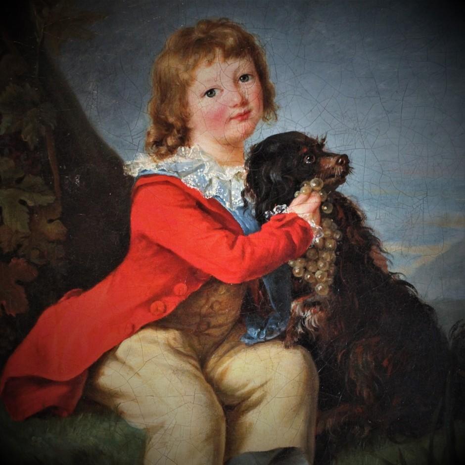 De toekomstige Louis XVII met zijn hond