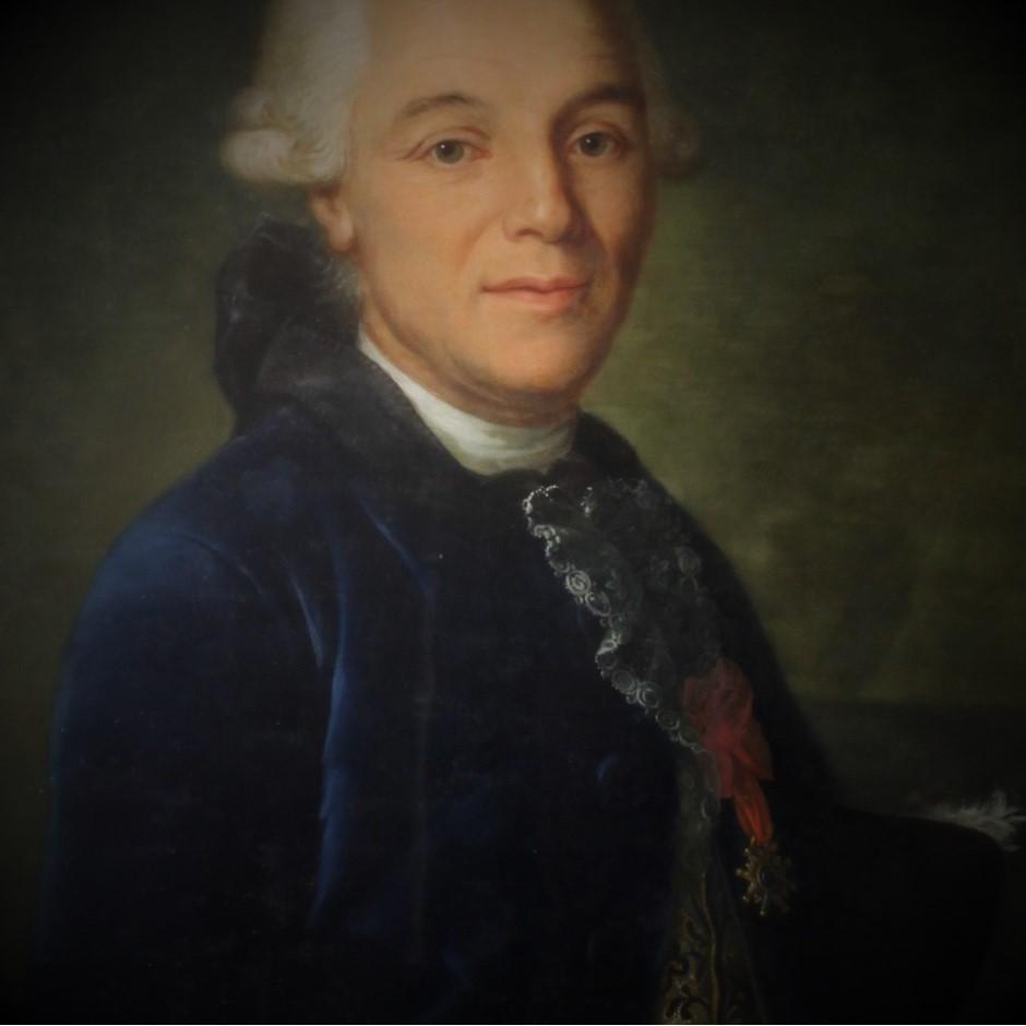 Grand fixé sous verre de V. de Montpetit (1713-1800)