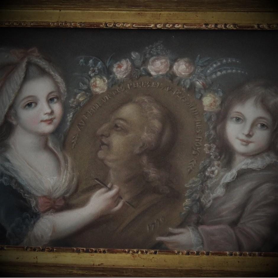 """""""Louis XVII et Madame Royale dessinant leur Père"""""""