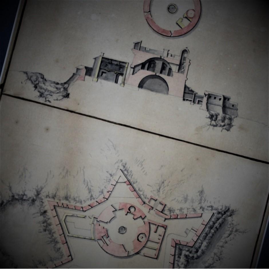 Plans des forts de Porquerolles et de Port-Cros