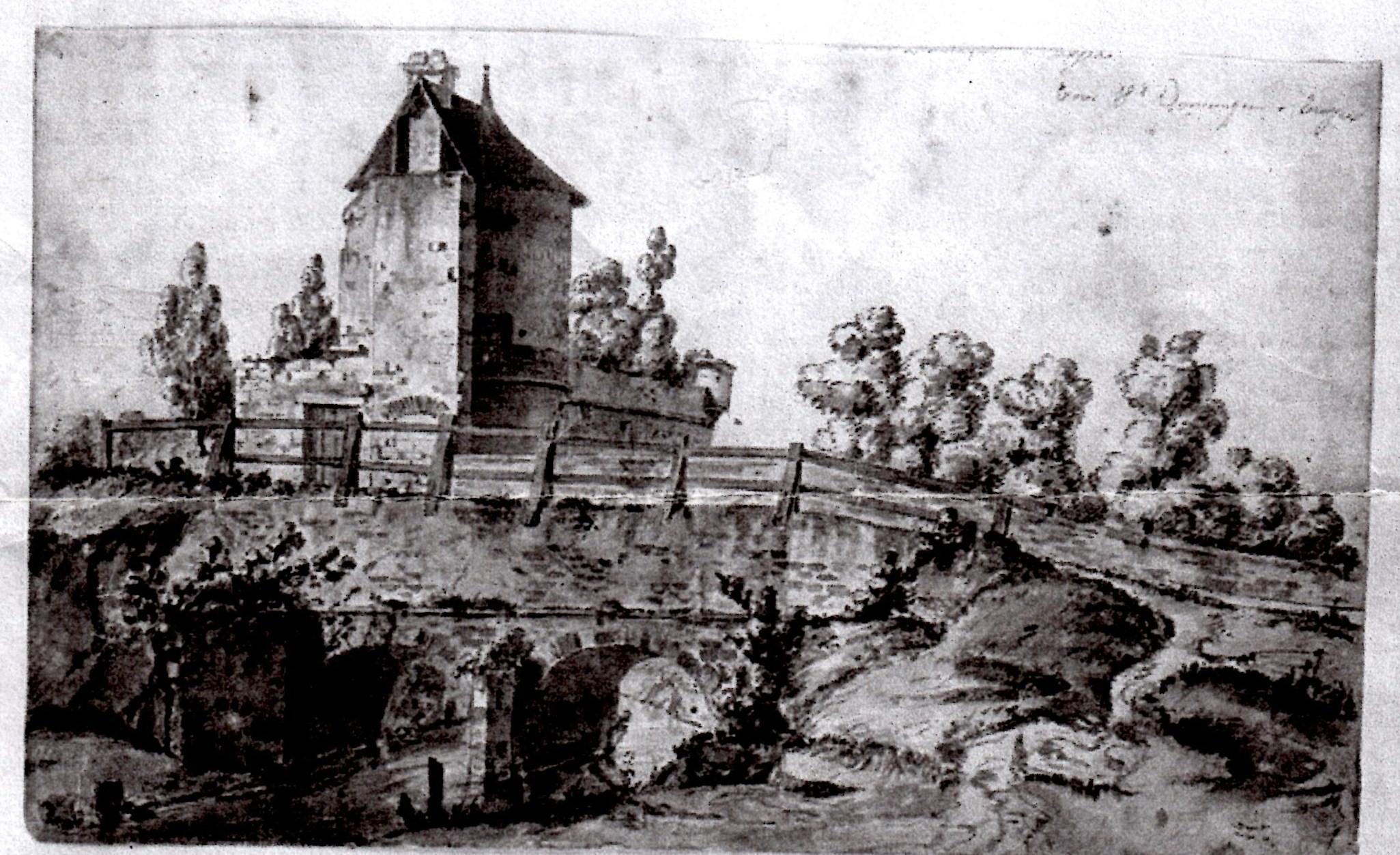 Tour Saint Dominique par Etienne Bouhot, Musée de Saumur en Auxois
